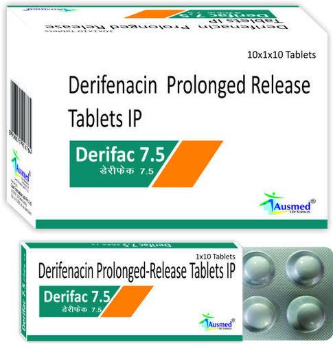 Darifenacin Hydrobromide IP 7.5mg / DERIFAC.