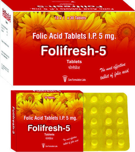 Folic Acid  Ip  5mg ,folifresh