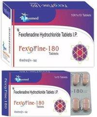 Faxofenadine Hydrochloride I.p 180mg , Fexofine