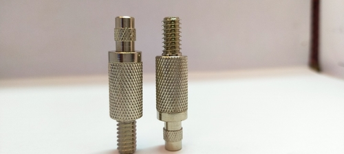 Brass Cable Gripper With Knurling Rod M6 Threads