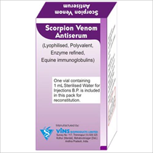 Scorpion Venom Antiserum Injection