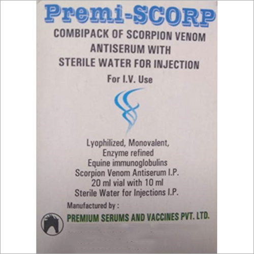 Combipack Of Scorpion Venom Antiserum With Sterile Water For Injection