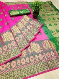 Cotton Jacquard Saree