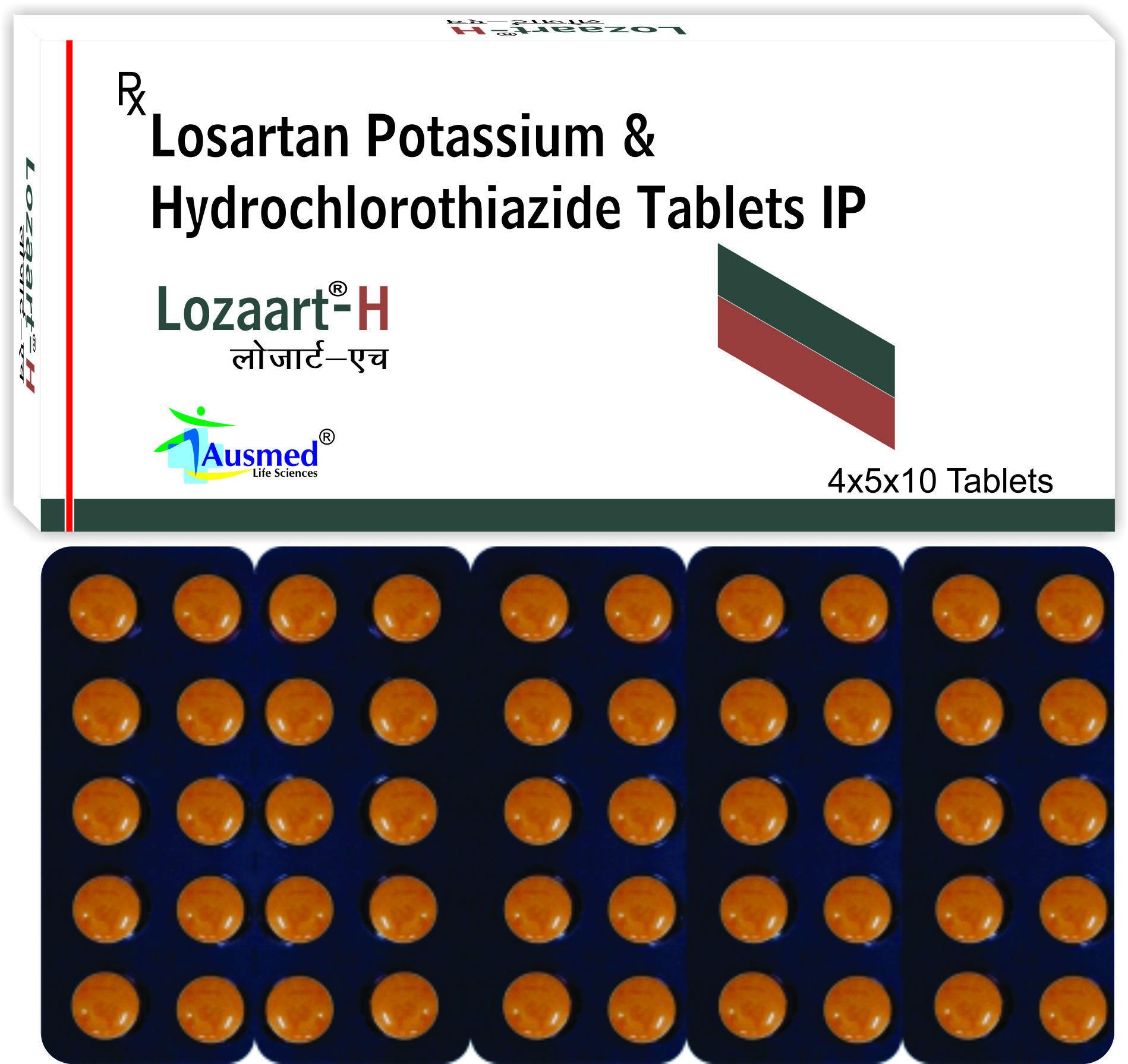Losartan Potassium  Ip 50mg. +  Amlodipine Besylate  Ip  5mg./lozaart
