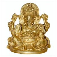 Brass God Ganesha Statue