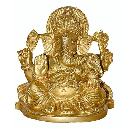 Brass God Ganesha Statue