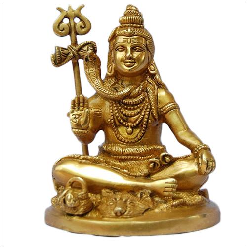 Brass Shiva Trishul Statue