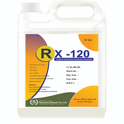 RX-120 Organic Disinfectant 5ltrs
