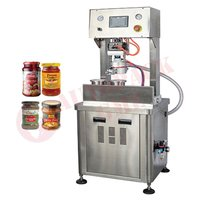 Glass Bottle Vacuum Capping Machine / Lug Capping Vacuum Type