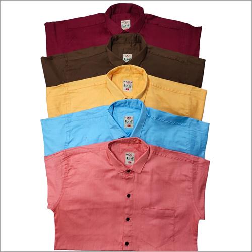 Mens Plain Cotton Twill Shirts