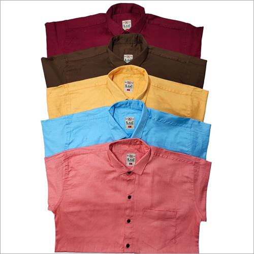 Mens Plain Cotton Twill Shirts