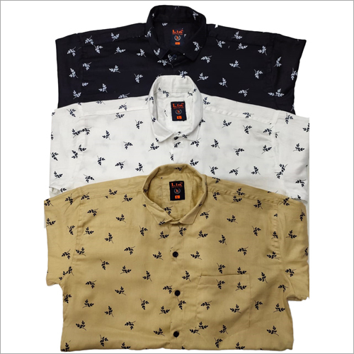 Mens Leaf Printed Shirts