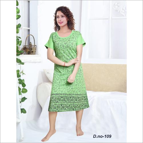 Ladies Printed Night Gown