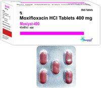 Moxifloxacin Hydrochloride BP  400mg. / MOXIYST-400