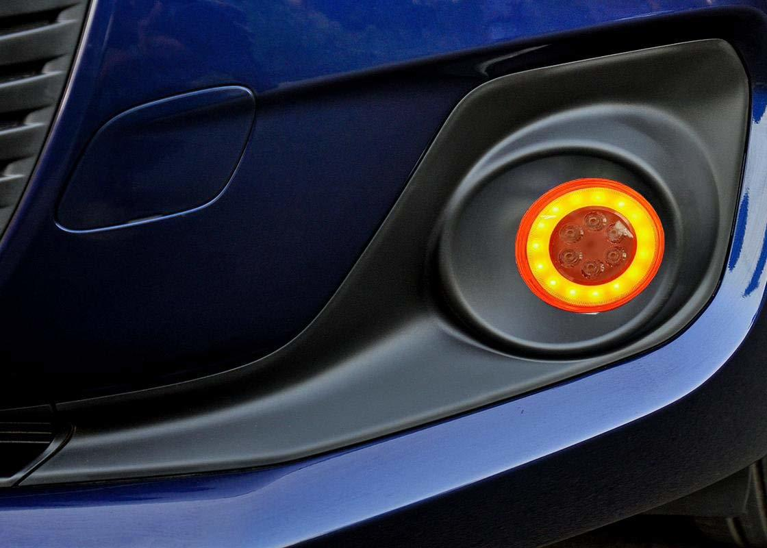 DRL Yellow Ring with 6 LED Car Fog Light with Lamp for Maruti Suzuki Swift 2018
