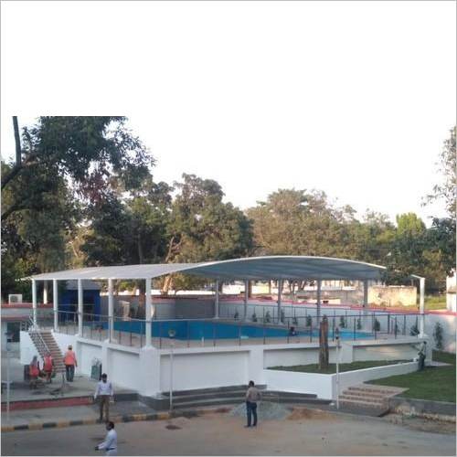 Tensile Swimming Pool Covering Structure