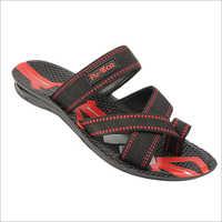 Kids PU Red Black Sandals