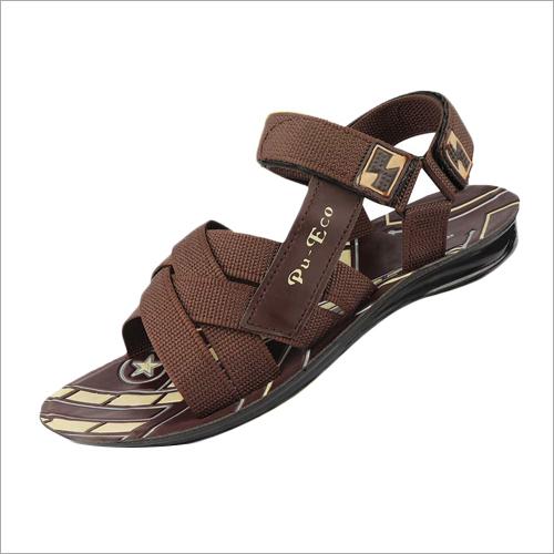 Kids 6 X 9 Inch PU  Brown Sandals