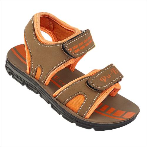 Kids PU Tan Orange Sandals