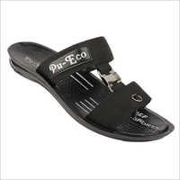 Mens PU Black Sandals