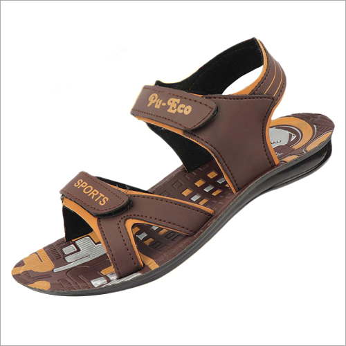 Mens PU Brown Sandals