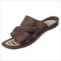 Mens PU Brown Sandals