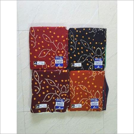 Designer Satin Bandhej Fabrics