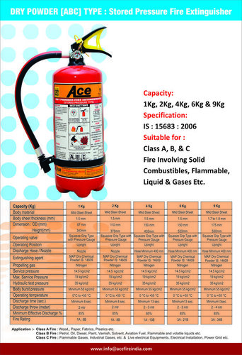 Dry Powder ABC Type Stored Pressure Fire Extinguisher