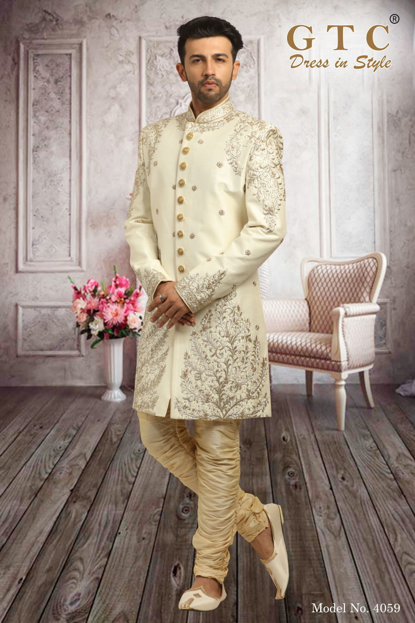 4059 Exclusive Wedding Sherwani
