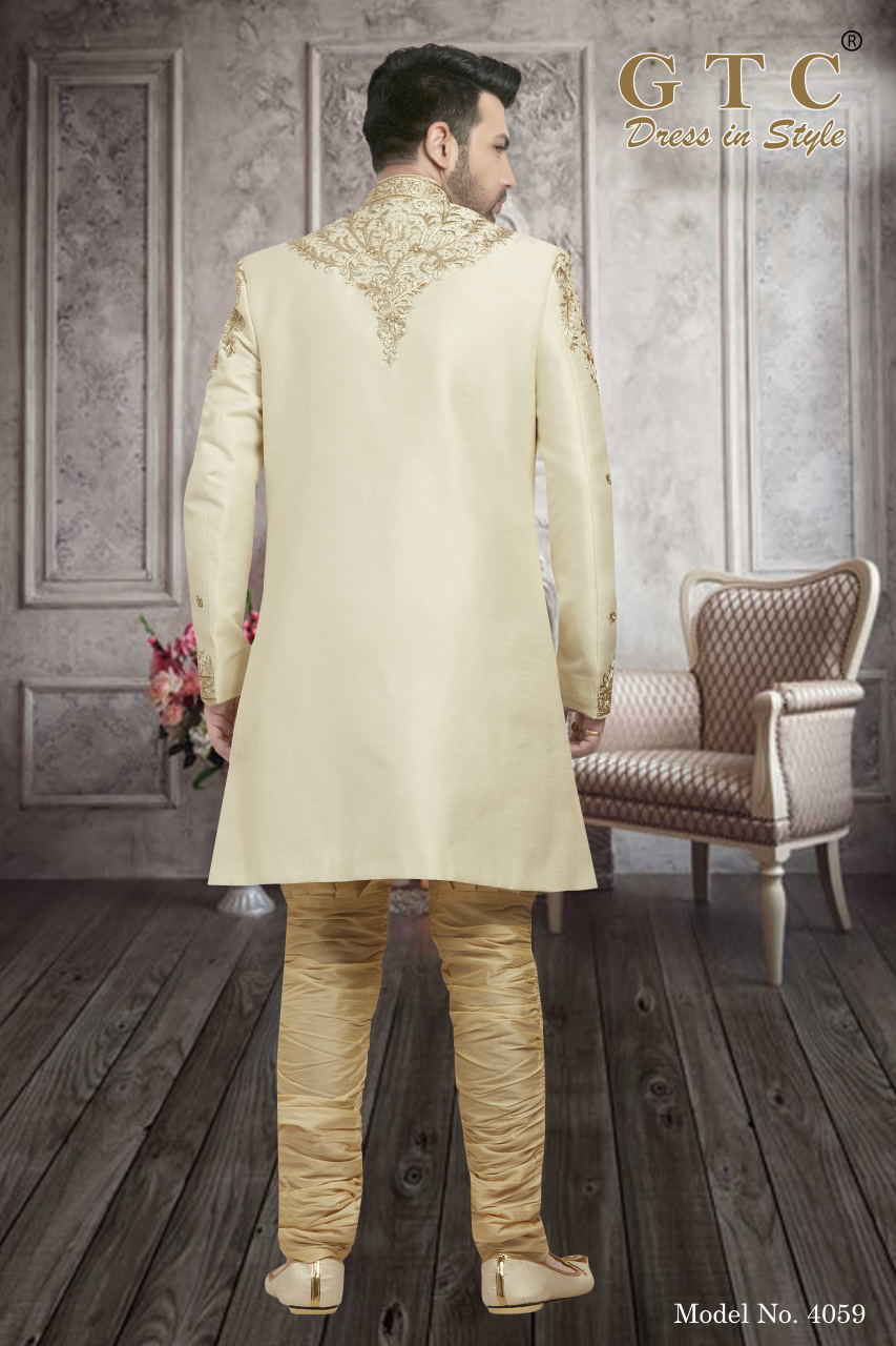4059 Exclusive Wedding Sherwani