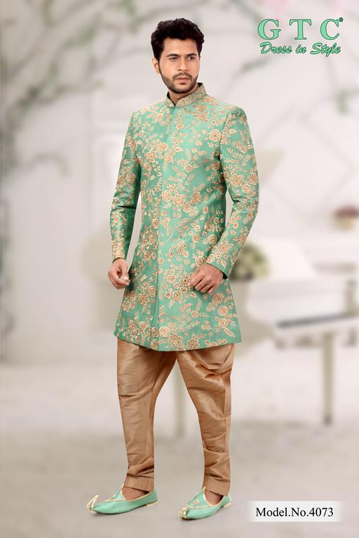 4073 Exclusive Wedding Sherwani