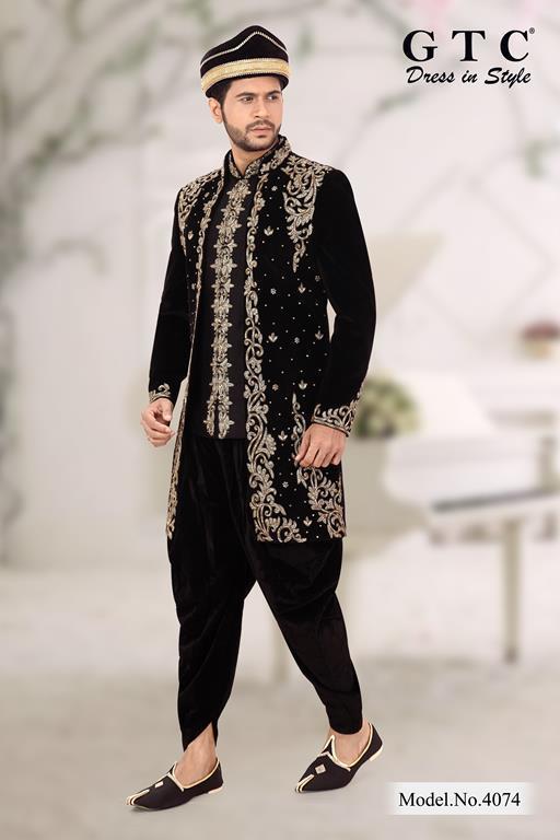 4074 Exclusive Wedding Sherwani