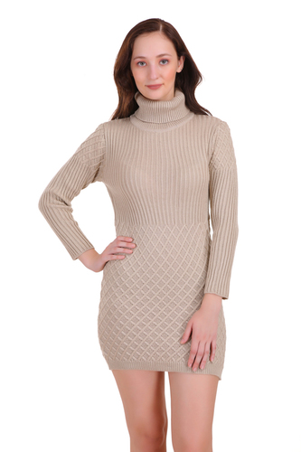Shawl Collar Diamond Cut Dress