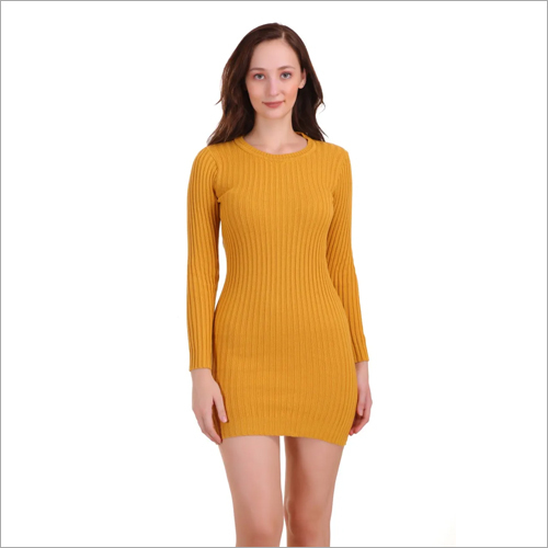 Ladies Long Fancy One Piece Woolen Dress
