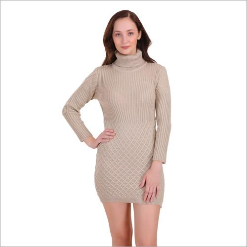 Ladies Fancy One Piece Woolen Dress