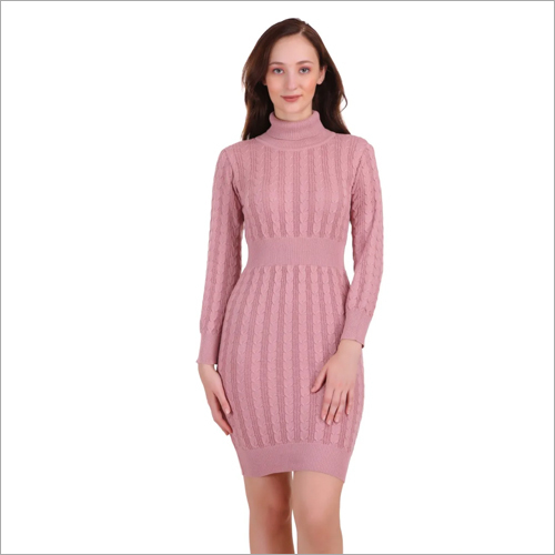 Ladies Designer One Piece Woolen Dress