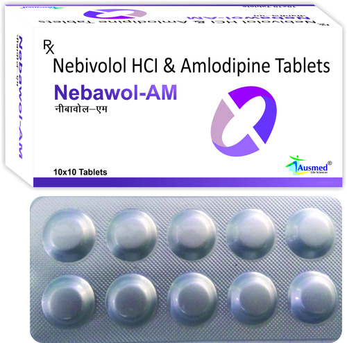 Nebivolol Hydrochloride Ip Eq. To Nebivolol 5mg. + Amlodipine Besylate Eq. To Amlodipine Ip  5mg./nebawol-am