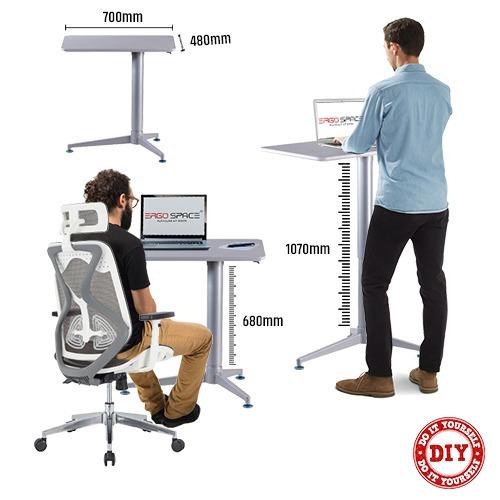 Height Adjustable Desk, Pneumatic (Pawn)