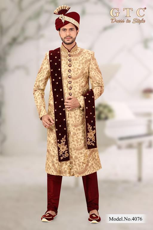 4076 Exclusive Sherwani