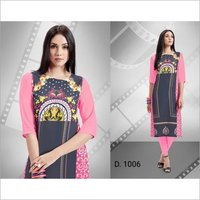 SHOPPING WORLD  NEW AMARICAN CRAPE KURTIS