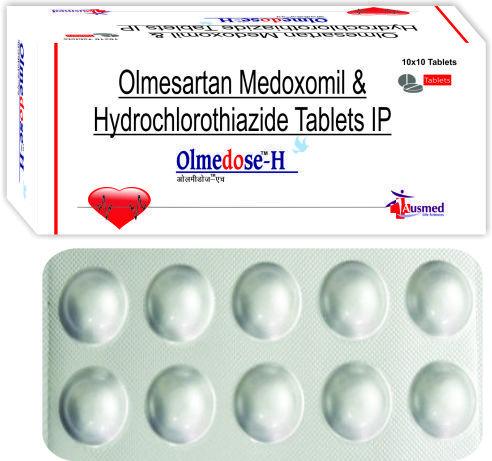 Olmesartan medoxomil  40 mg. + Hydrochlorothiazide IP 12.5 mg/OLMEDOSE-H 40