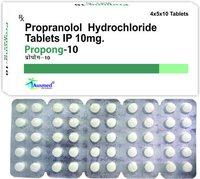 Propranolol Hydrochloride Ip  10mg/propong-10