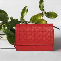 Ladies Polish Red Leather Purse