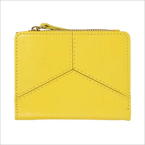 Ladies Mustard Color Leather Hand Purse