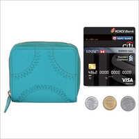 Ladies Turquoise Blue Leather Purse