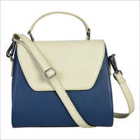 Ladies Navy Blue and Beige Handbags