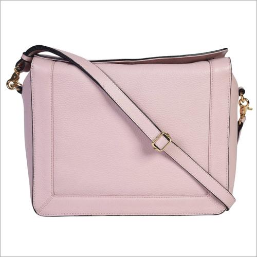 Ladies Light Pink Leather Handbags