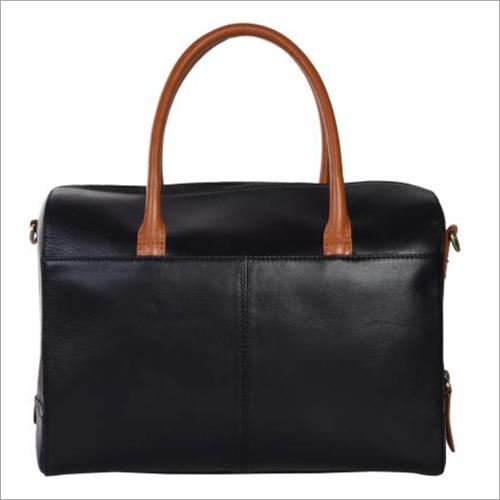 Ladies Black And Tan Leather Handbags