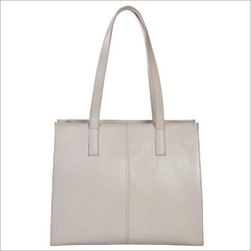 Ladies White Leather Handbags