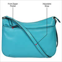 Ladies Turquoise Blue Leather Handbags